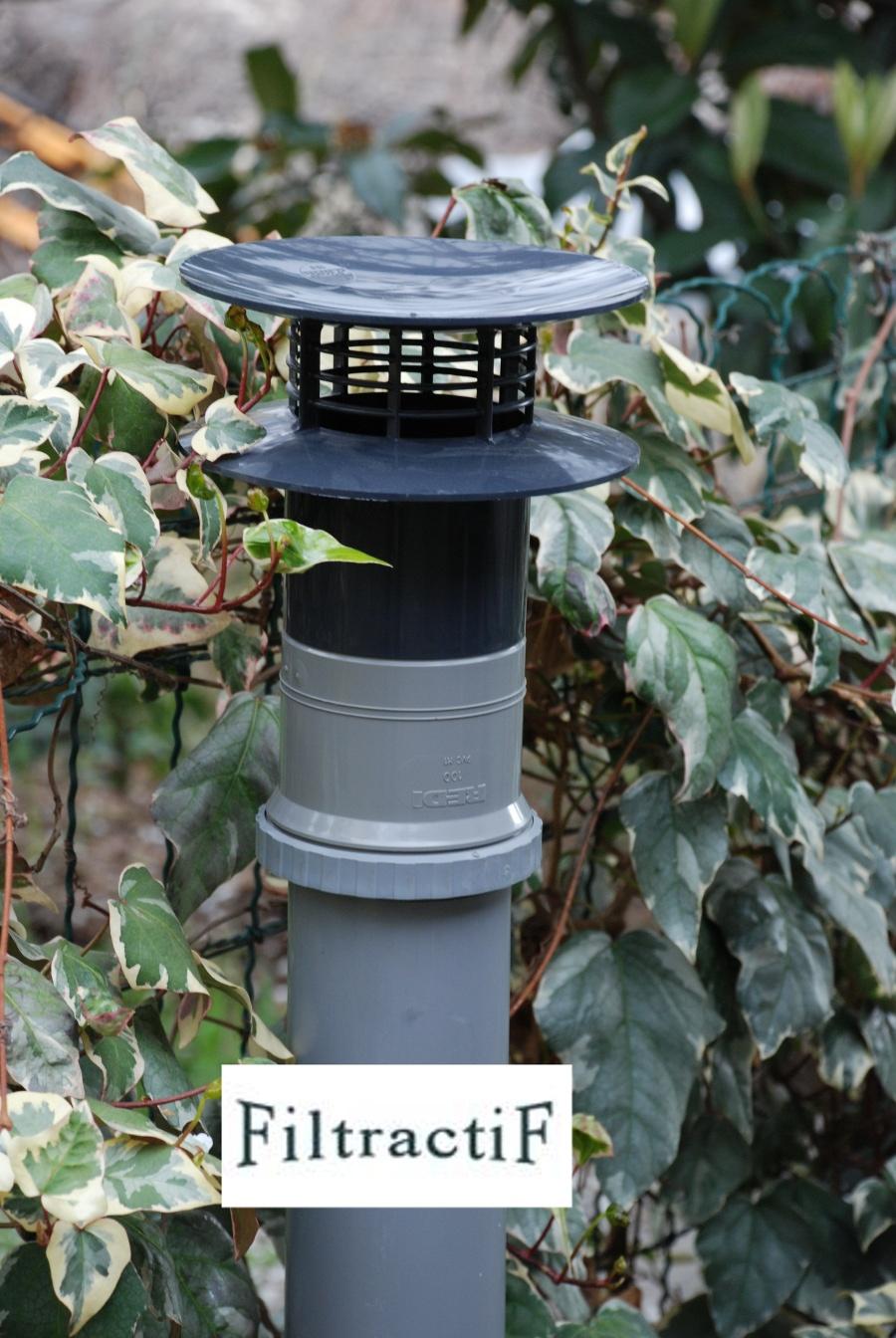 filtre anti odeurs fosse septique installation sur vent. Black Bedroom Furniture Sets. Home Design Ideas